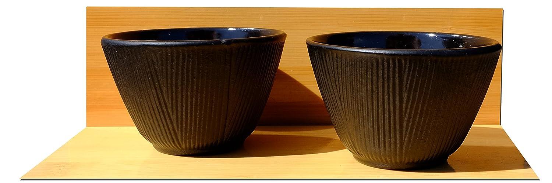 /estilo japon/és Tetsubin Hierro Fundido Negro Tetera Hervidor de agua 0,7/l Ca/ñ/ón salvamanteles bosque de bamb/ú tazas/