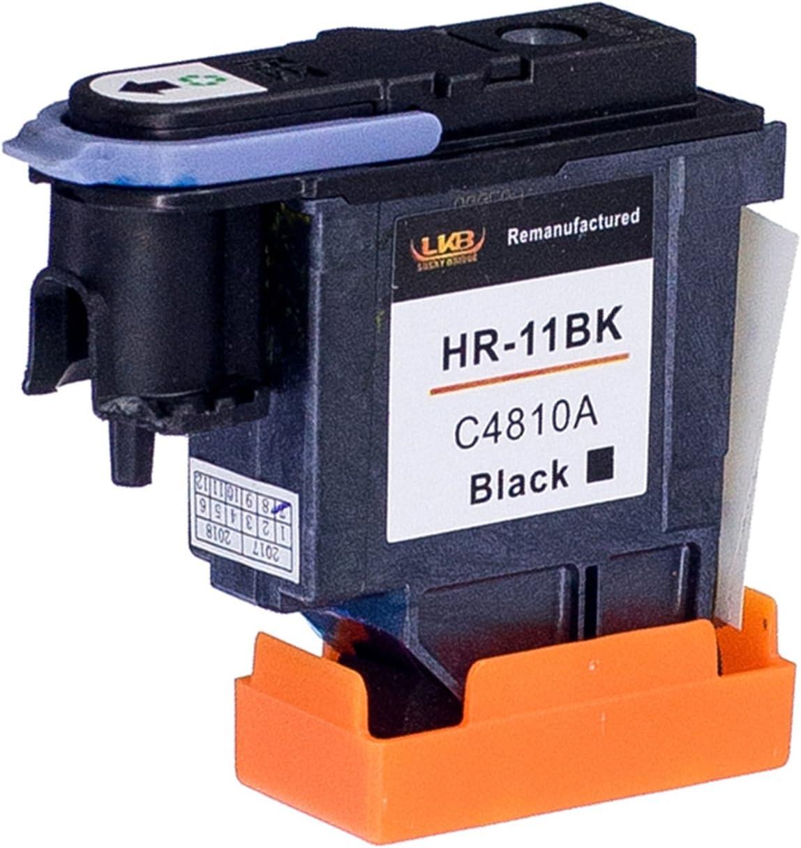 Lucky puente 1PK HP11 C4810 A – Cabezal de impresión compatible para HP Business Inkjet 2200, 2250, 2280, 2600, 2800 HP Designjet 110 NR, Designjet 10PS, 20PS, 50PS, 500 800 Impresoras (1 BK): Amazon.es: Oficina y papelería