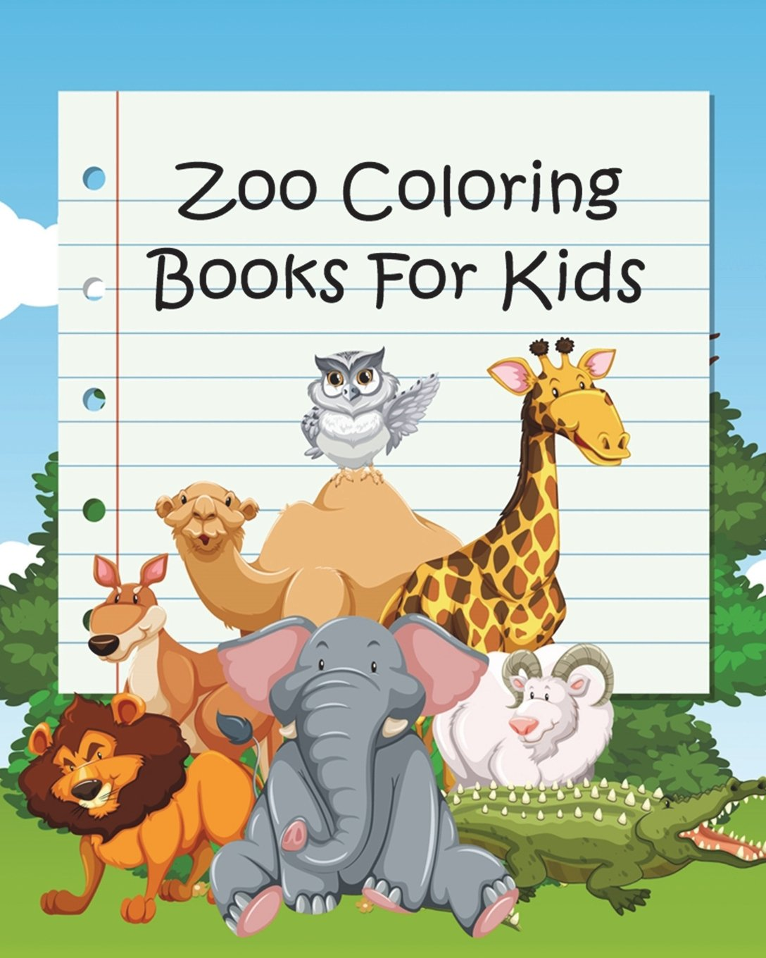 Zoo Coloring Books For Kids Coloring Books For Kids