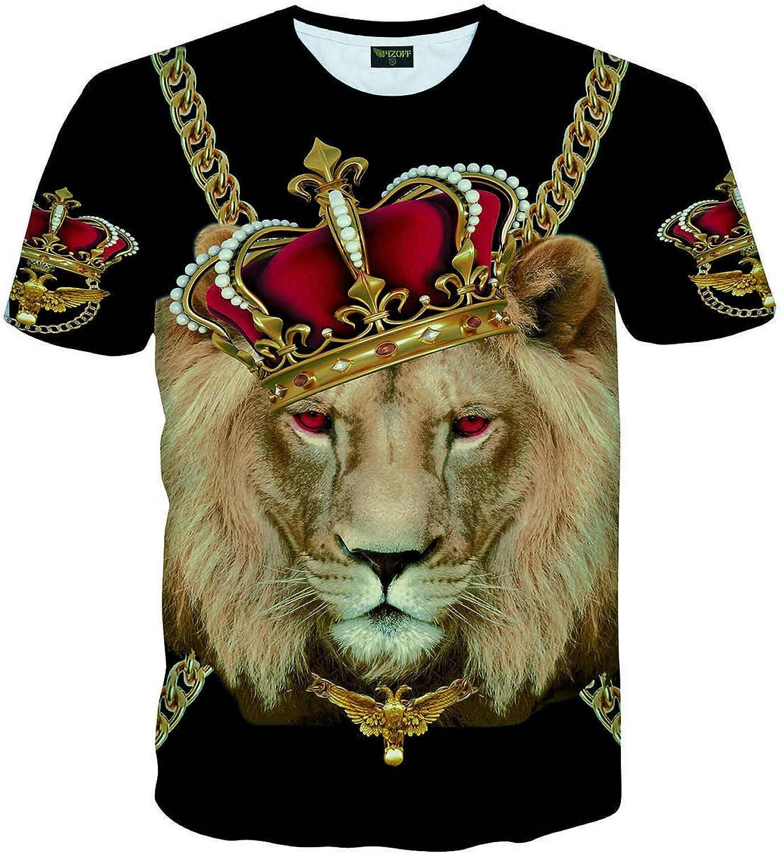 PIZOFF Unisex Hip Hop Camiseta de Skater con Estampado de Bandana Negra Dibujo de Flores de Anacardos T-Shirt Y0679-XXL