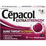 Cepacol Maximum Strength Throat and Cough Drop Lozenges, Mixed Berry, 16 Count (Pack of 3)