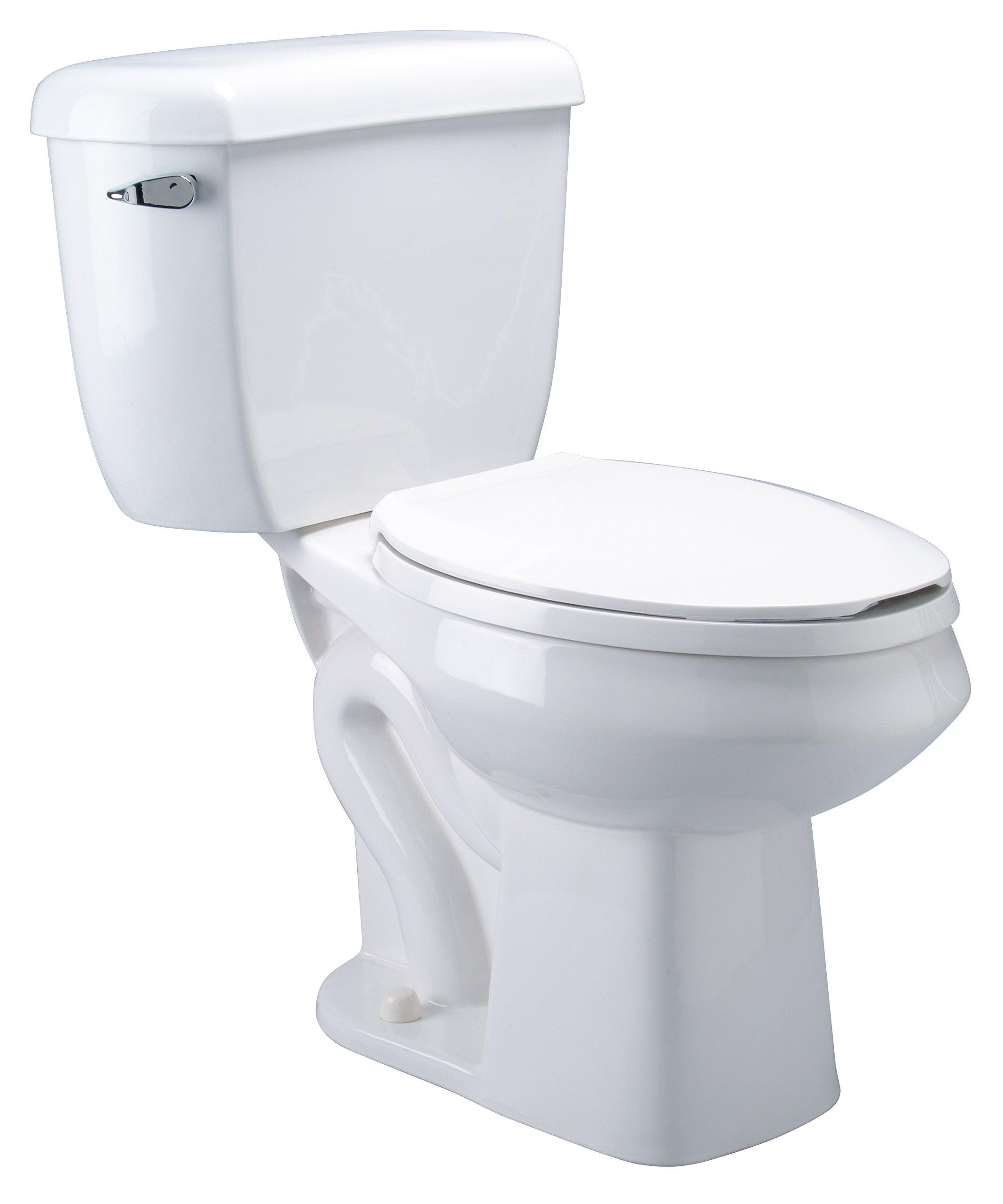 Zurn Z5560 ADA, Elongated Pressure Assist, 1.6 gpf, Two-Piece Toilet