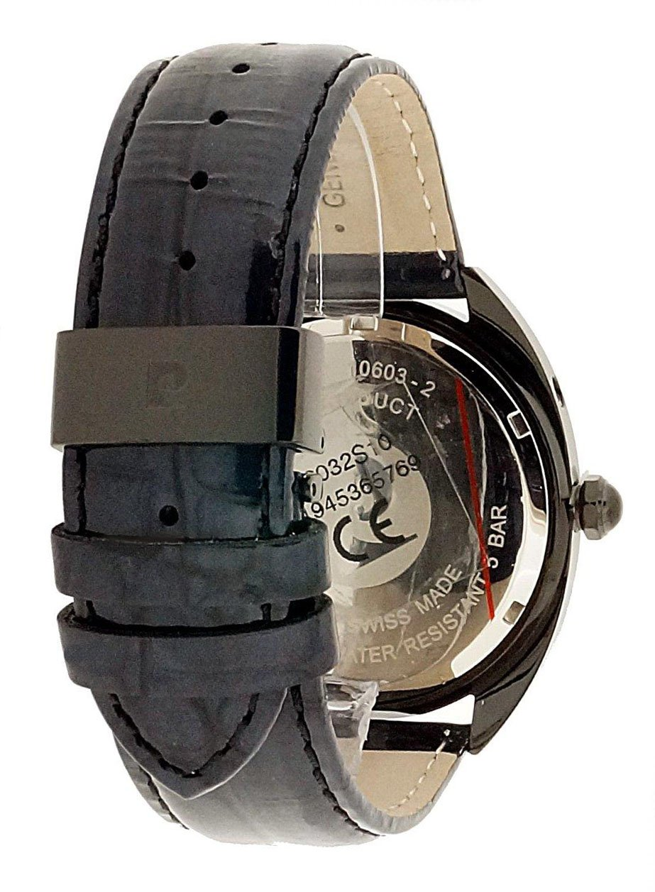 Pierre Cardin-dam-armbandsur schweiziskt gjort Schwarz/Schwarz/Rot