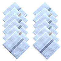 KAJU Cotton Handkerchiefs for Men Set of 12