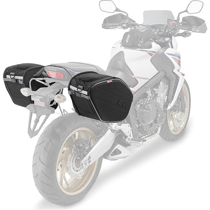 Givi EA101B Easy Bag Alforja para Motos Deportivas, Volumen 19-25 litros, Carga Máxima 5 Kg por Bolso, Negro: Amazon.es: Coche y moto