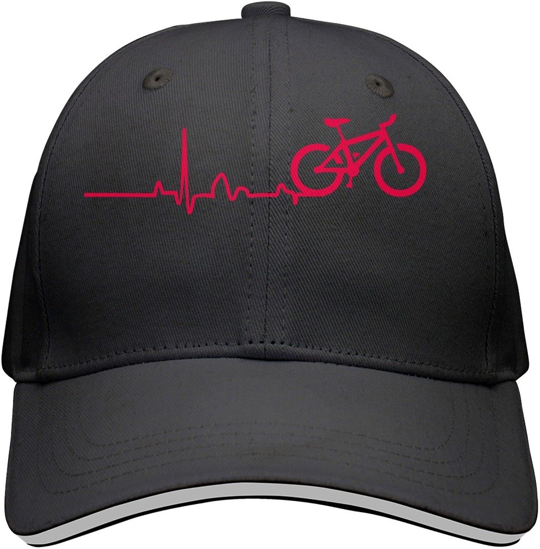 Cycling Gift Comfortable Peaked Cap for Boy and Girls Kr.JAIEN Sandwich Peak Cap Adjustable Cap Black Bike Beat Bike Pulse