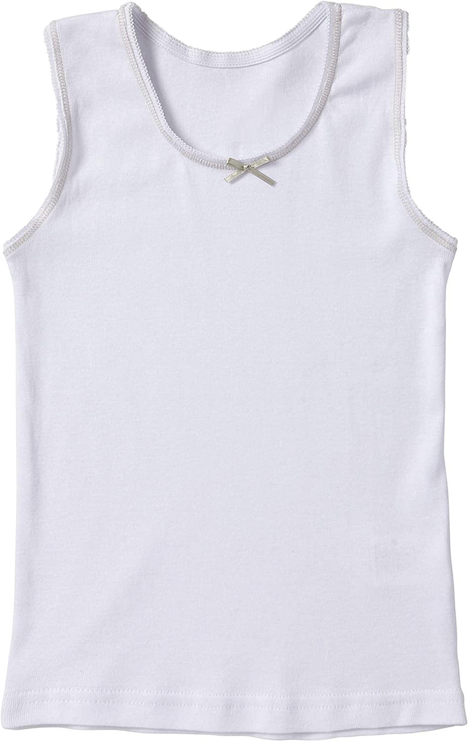 Sportoli Girls Ultra Soft 100/% Cotton White Tank Top Undershirts