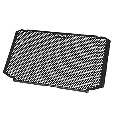 MT09 Motorcycle Radiator Grille Guard Cover Aluminum Alloy Protector for Yamaha MT 09 MT09 MT-09 2020 2020 2020 MT-09 SP 2020-2020(BLACK): Automotive