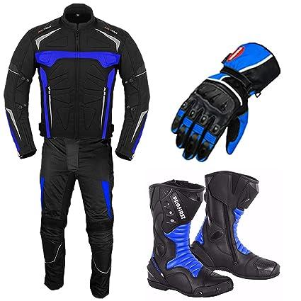Ropa de moto - Traje de moto con guantes de carreras - Botas ...