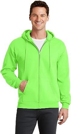 Port /& Company Mens Hooded Fleece Sweatshirt,XX-Large,Safety Green