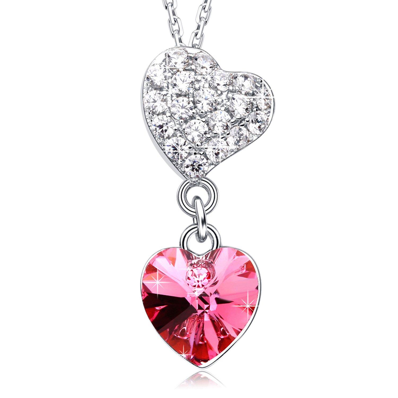 MEGA CREATIVE JEWELRY Dulce Amor Collares Mujer de Corazón a Corazón Cristales