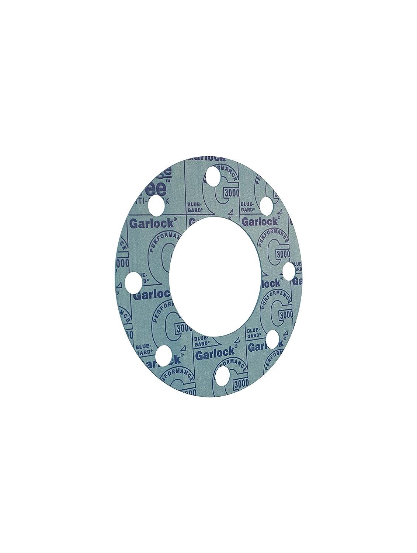 300# Flange Class 4 Nominal Pipe Size 10 Length 0.063 Thick Garlock 37706-4204 Blue Aramid Fiber//Nitrile Binder Style 3000 Full Face Gasket 10 Width