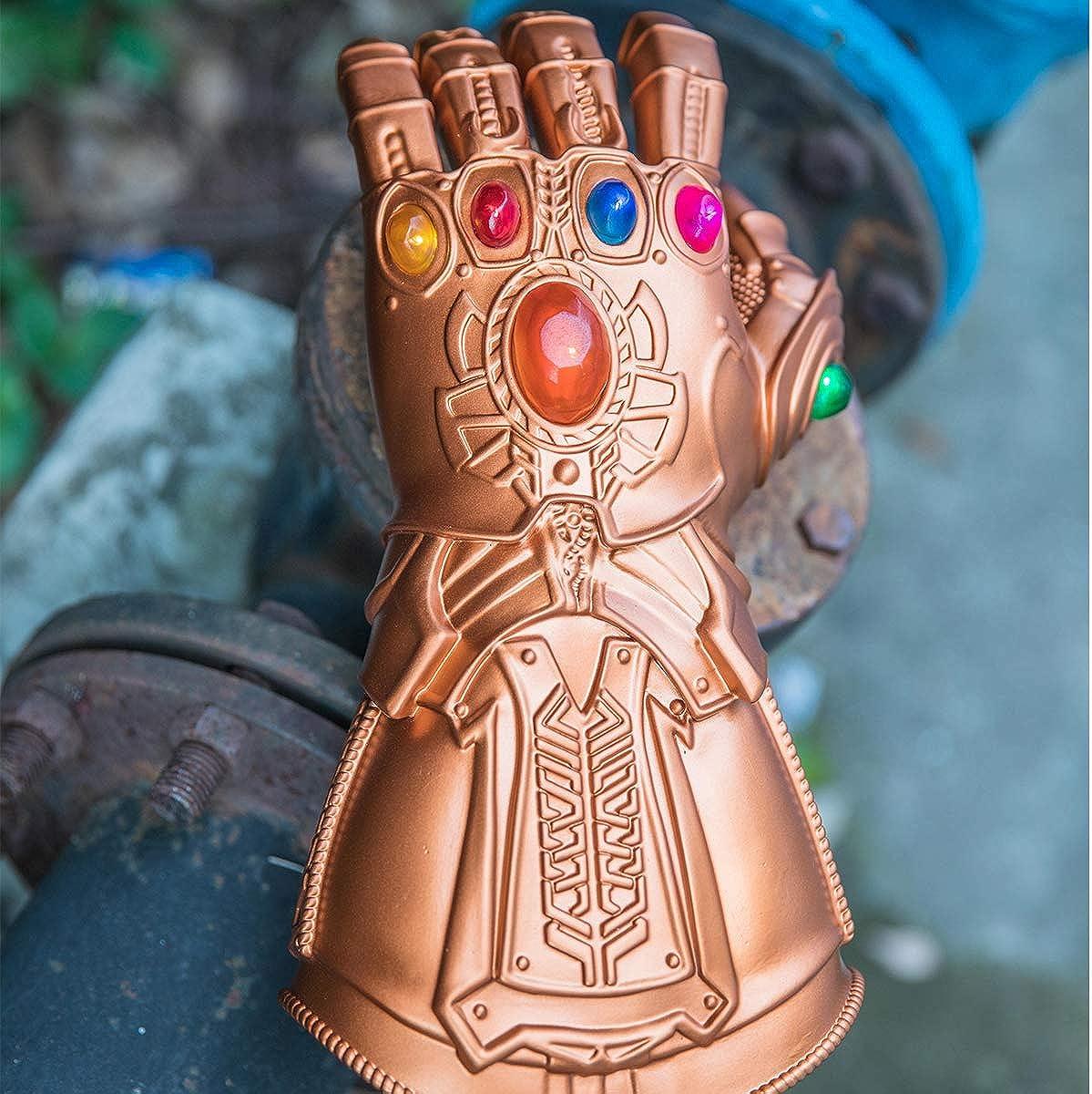 Thanos Gauntlet Infinity Gauntlet Glove Light up Movie Endgame Cosplay Costume Props for Men