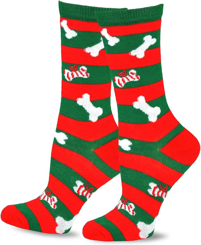 TeeHee Christmas Kids Fun Socks 4-Pair Pack Stripe Tree Snowman Candy Cane
