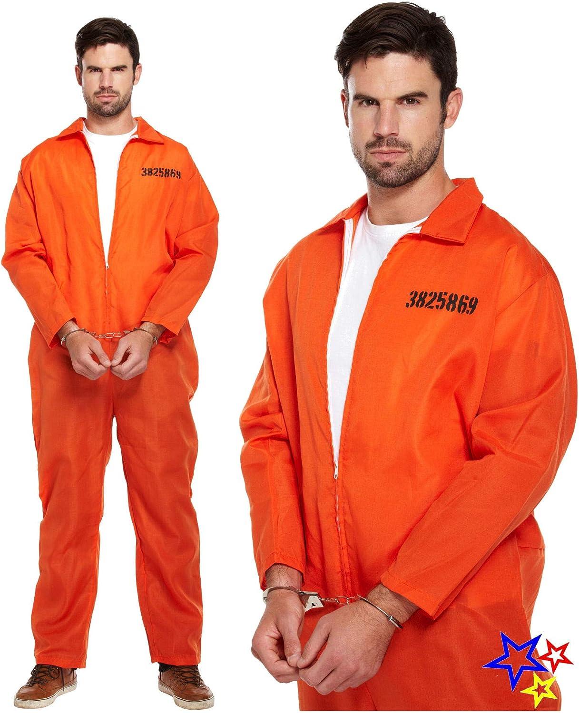 D//UP ADULT PRISONER OVERALL ORANGE XL SIZE