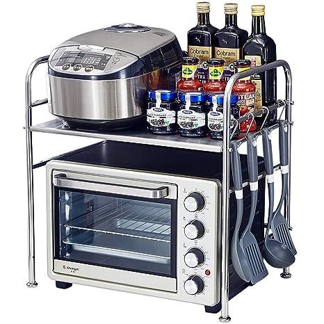 Amazon.com: Estante para horno de microondas de acero ...