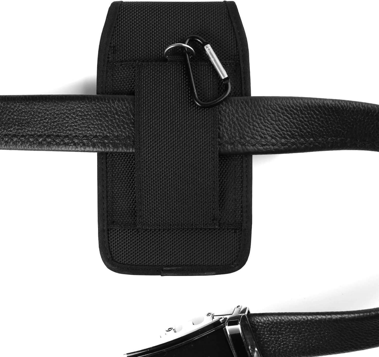 Jethro Easyfone Prime A1 Slim Flip Phone Alcatel Go Flip//One Touch Small Nylon Belt Case Holster Pouch with 2 Belt Loops Carabiner Clip for iPhone SE 5S 5 SC330V3 LG B470 F4NR Jitterbug Flip