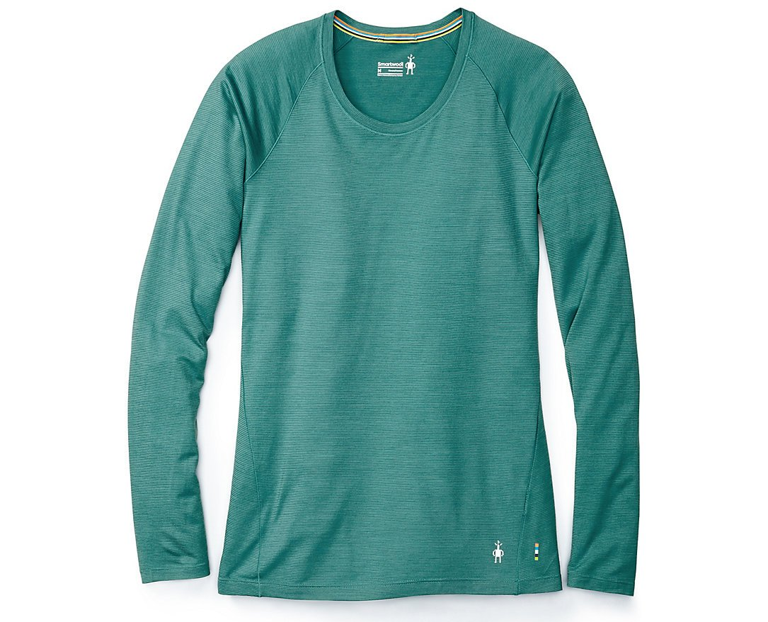 SmartWool Women's Merino 150 Baselayer Pattern Long Sleeve (Jungle Green) Small