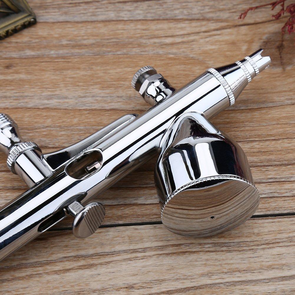 JP-180 Dual Action Schwerkraftfutter Airbrush 0,2 mm Nadeld/üse f/ür K/ünstleranstrich Nailart Airbrush Pistole Kit Einweg-T/ätowierung DIY-Handanstrich usw Modellanstrich