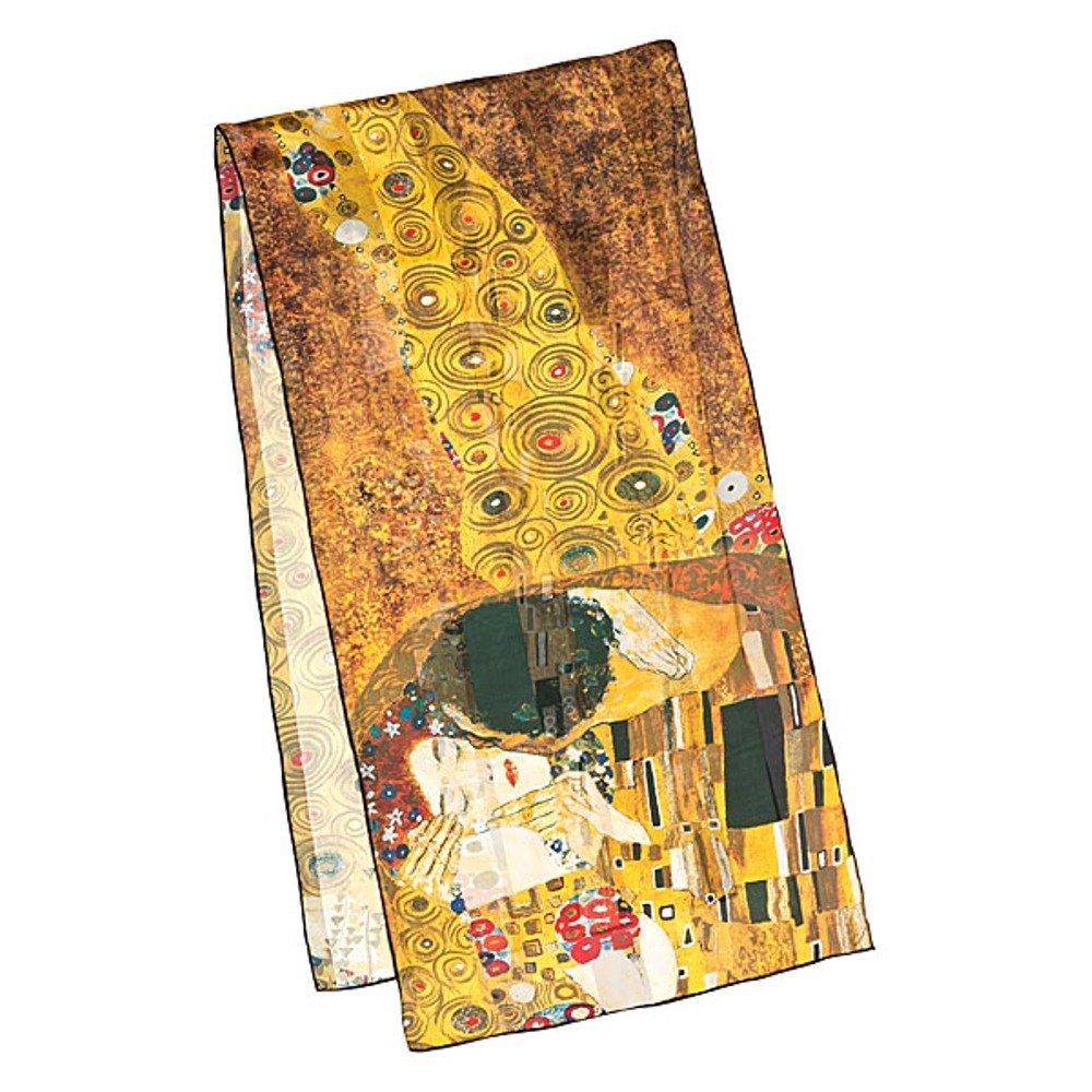 VON LILIENFELD Bufanda de seda motivo del arte Gustav Klimt: El beso