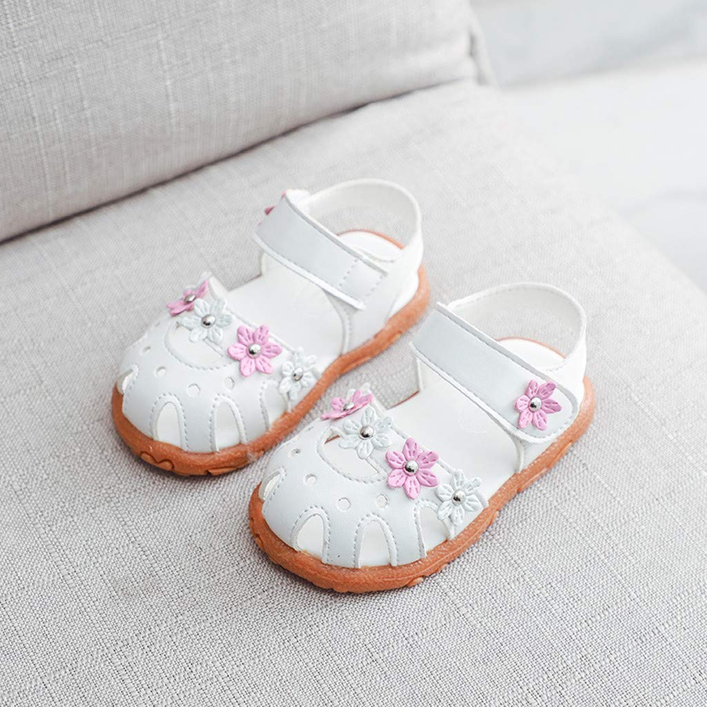 ❤️Youngii Sandales Enfant b/éb/é Fille Princesse Fleur Chaussure Ete Beach Shoes Confort Fond Mou Sandals