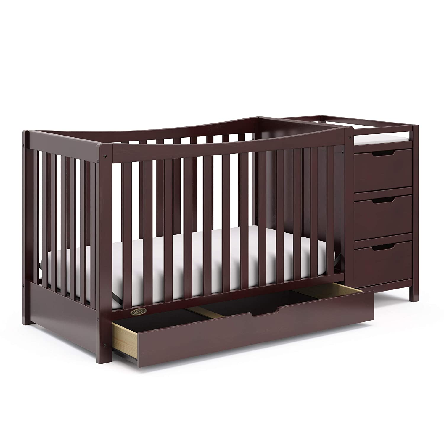 Graco Remi 4-in-1 Convertible Cribs With Changing Table