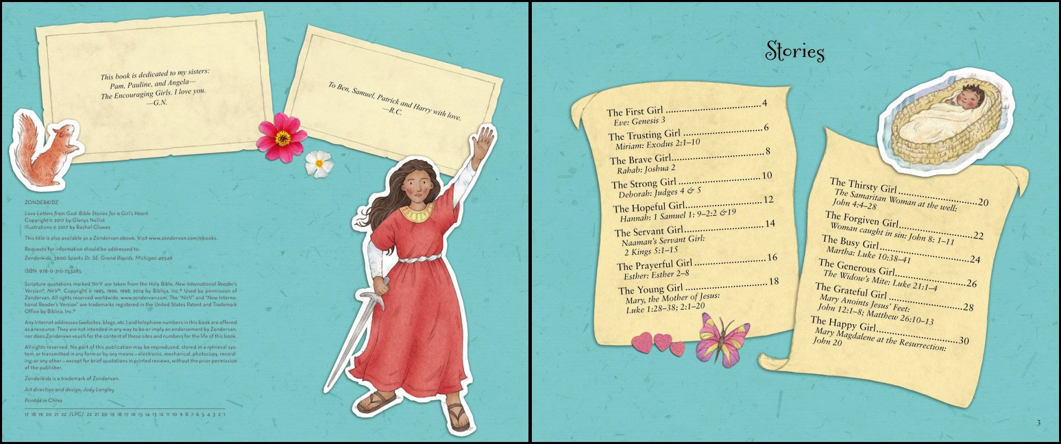 love letters from god bible stories for a girls heart glenys nellist rachel clowes 9780310753285 amazoncom books