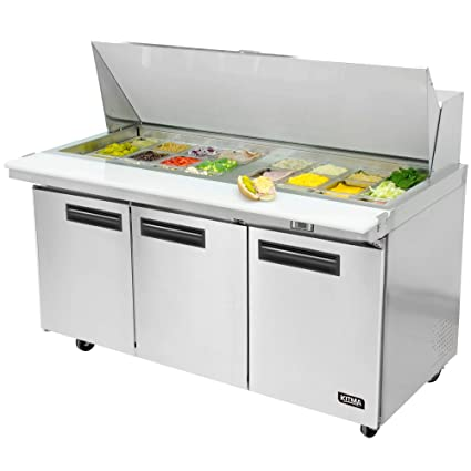 Terrific Amazon Com Mega Top Sandwich Prep Table Refrigerator Two Home Remodeling Inspirations Genioncuboardxyz