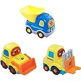 VTech Baby 80-205829 - Tut Tut Flitzer, Set 12 Bulldozer, Kipplaster, Gabelstapler