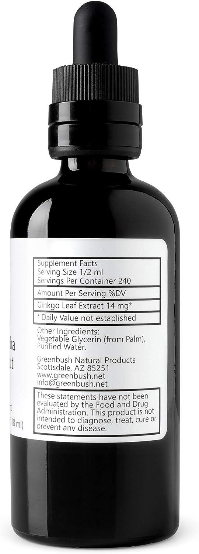Greenbush Ginkgo Biloba Extract, Liquid Memory Supplement (4 Ounces)…: Health & Personal Care