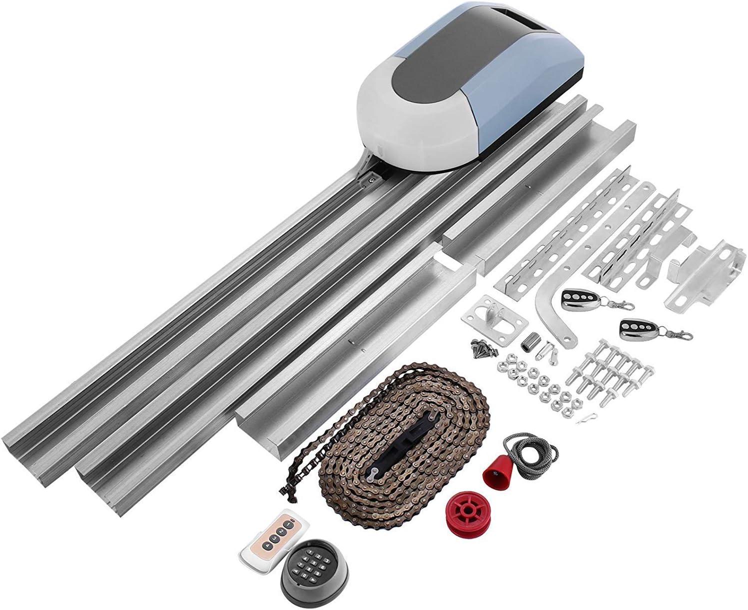 ZGYQGOO Kit Apertura Puerta Garaje Kit Apertura Puerta 1000N Abridor Puerta corredera automática 120 mm/s con 2 Controles remotos inalámbricos (1000N): Amazon.es: Hogar