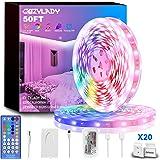 Cozylady LED Lights Strip 50FT, Ultra-Long Music LED Strip Lights for Bedroom, Room Decor, Bedroom Decor, Children's Room