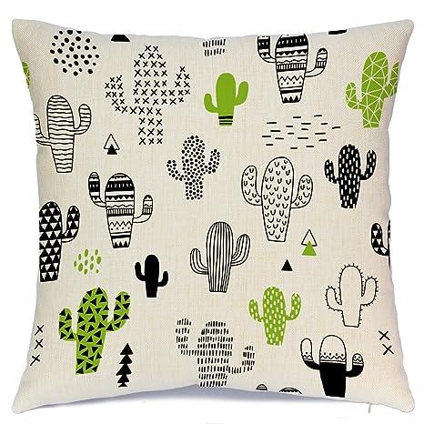 Amazon.com: aeney Cactus Home manta decorativa Funda de ...