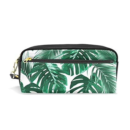 6dd3a5c8962d Amazon.com: Wamika Tropical Palm Leaves Pencil Case Pen Zipper Bag ...