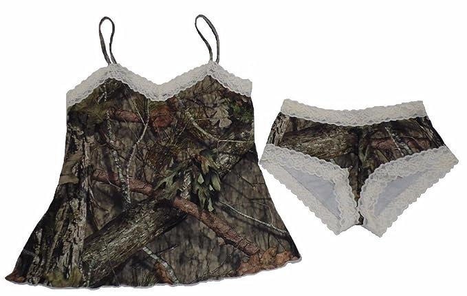 f95e0772f291 Womens Mossy Oak Breakup Country Camo Camisole & Boyshort Set with Organza  Bag (Medium)