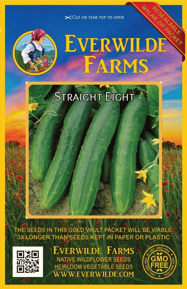 Everwilde Farms Mylar Seed Packet 1 Lb Marketmore 76 Cucumber Seeds
