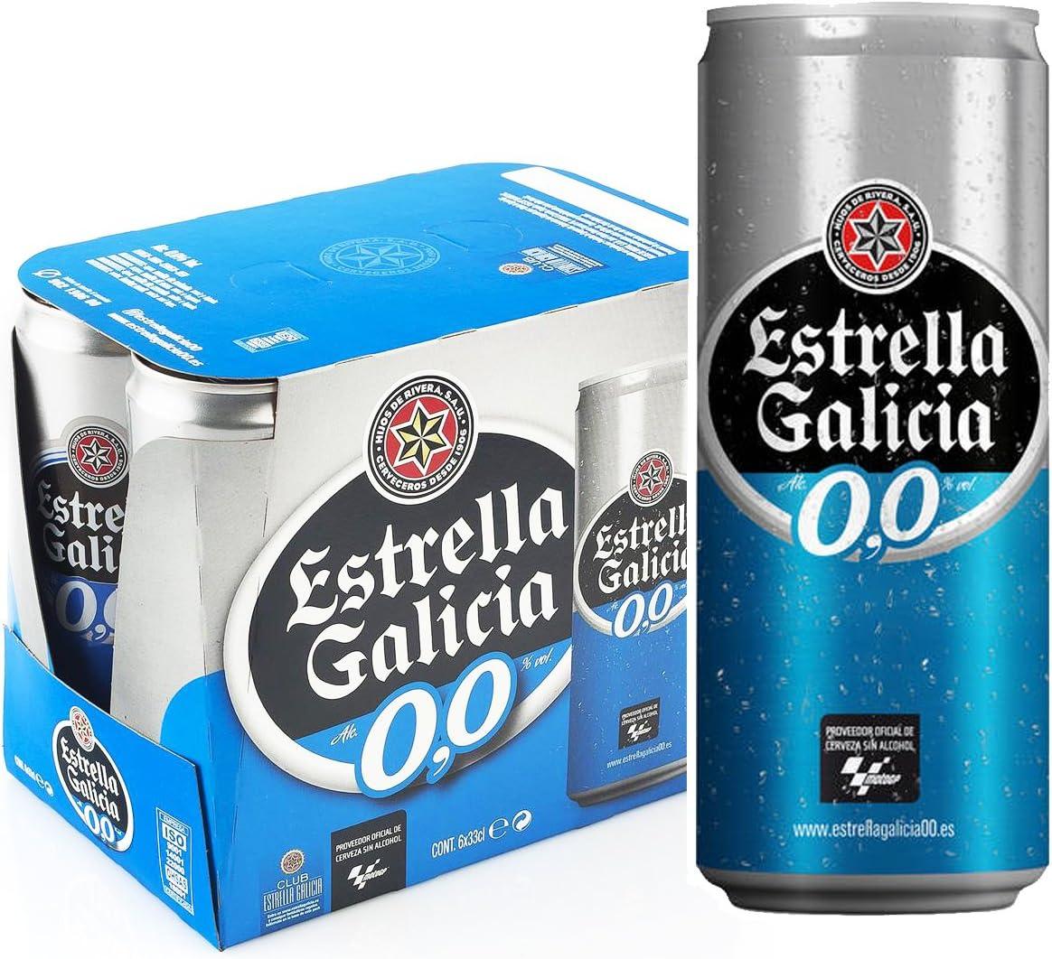 Estrella Galicia Cerveza 00 - Pack de 6 latas x 33 cl: Amazon.es: Alimentación y bebidas