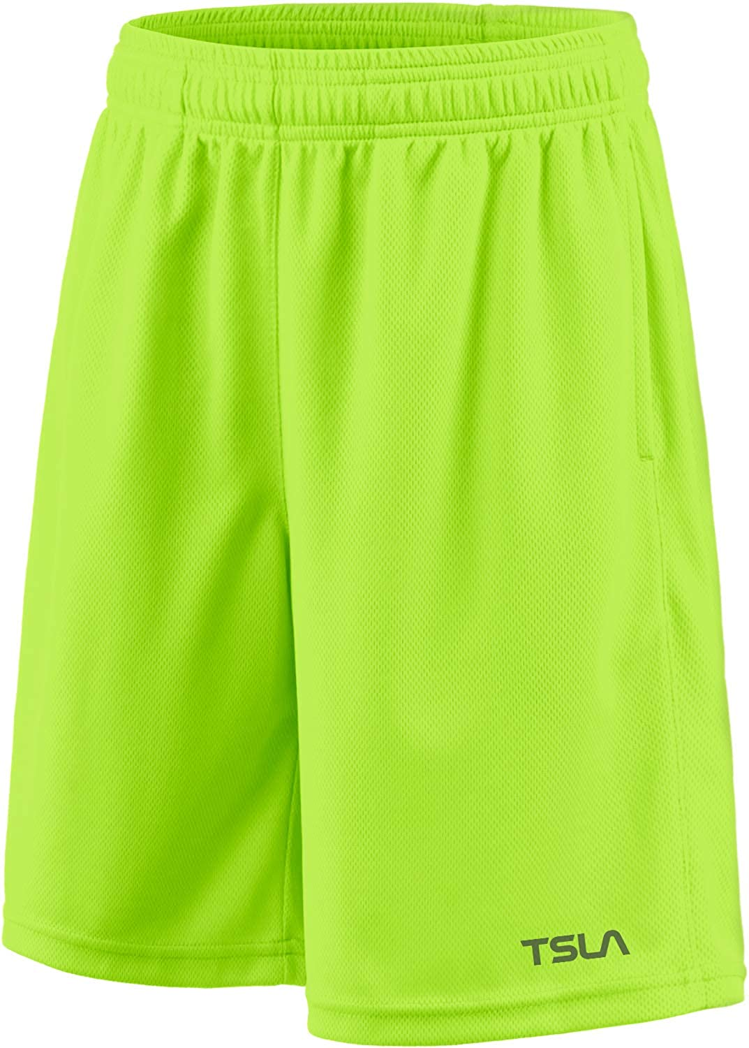TSLA 1 or 2 Pack Boy's Athletic Shorts, Quick Dry Pull On Basketball Running Shorts, Active Sports Workout Gym Shorts : Clothing