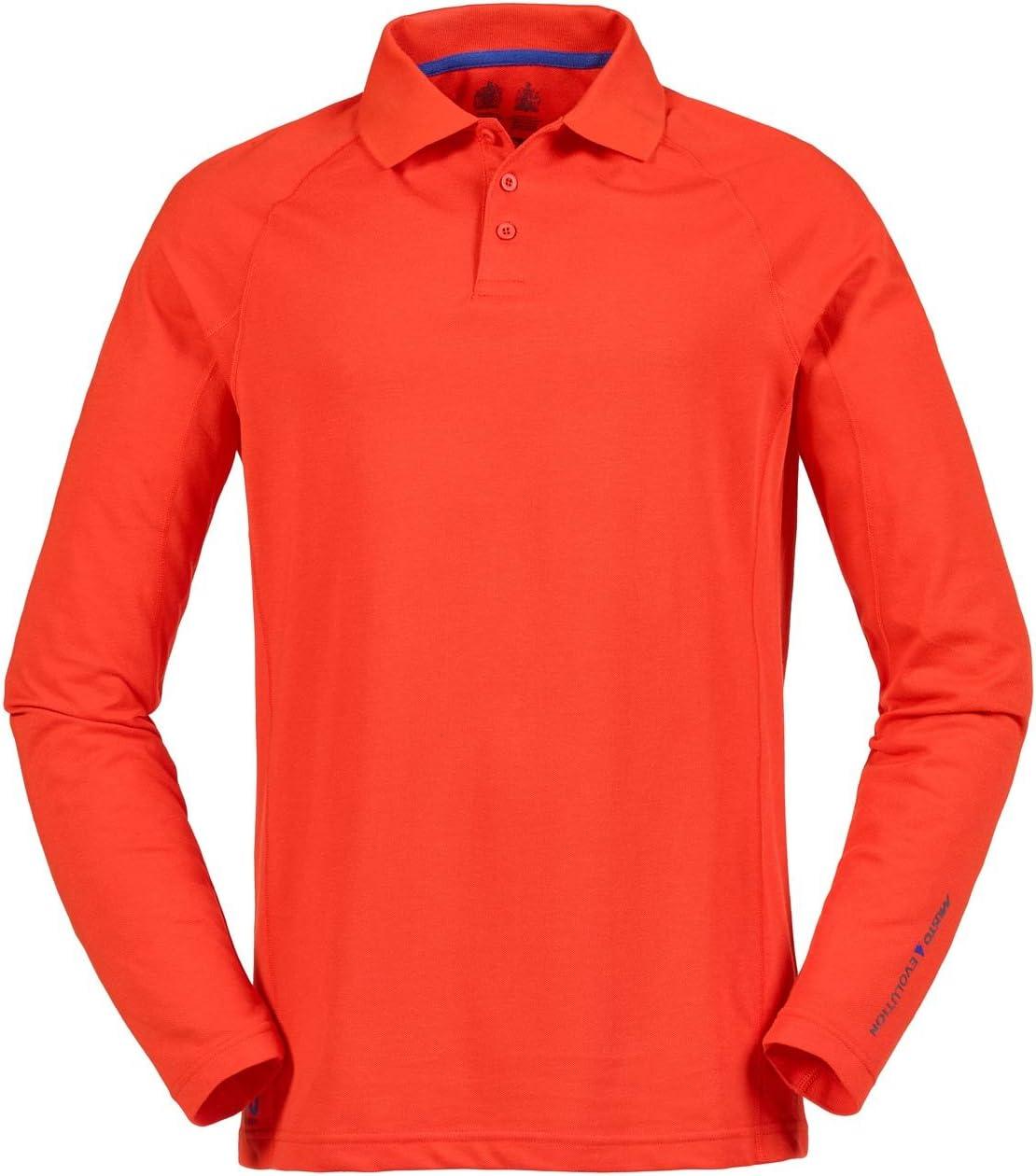 2016 Musto Evolution Sunblock Long Sleeve Polo Top Fire Orange ...