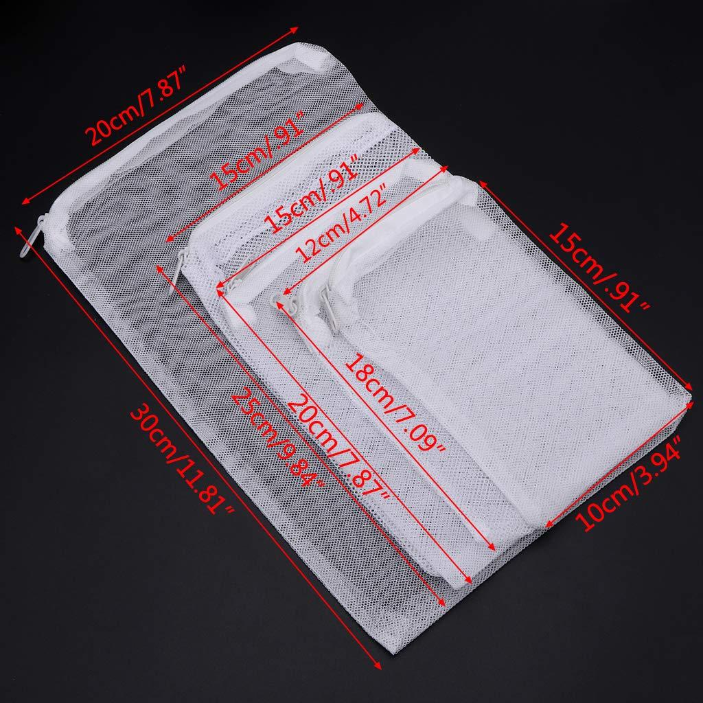 Filtro de Acuario 5 tama/ños MYA para Bio Ball Active Carbon de Aislamiento de Almacenamiento 5 Bolsas de Filtro con Cremallera para Acuario Bolsa de Malla con Cremallera