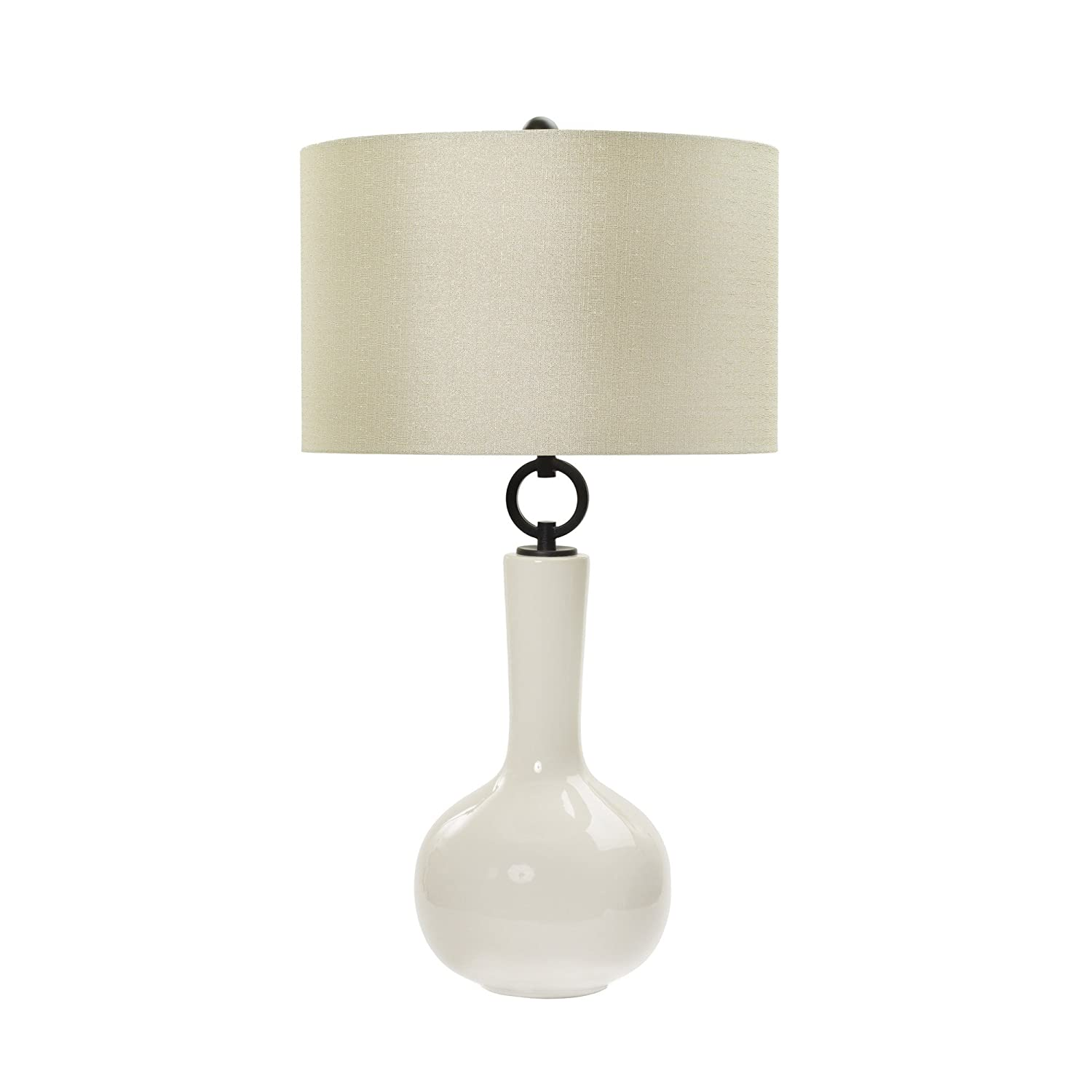 m.r Clean White 30 lamp and shade W-MR8911WHT Ceramic Table Lamp