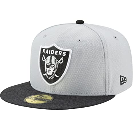 Amazon.com   New Era NFL Oakland Raiders Men s Sideline Gray 59Fifty ... e178f1bbf