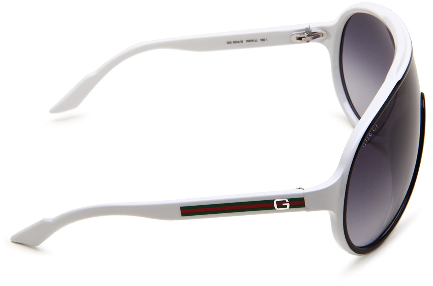 8705e41d1 Gucci Men's 1004/S Shield Sunglasses, Black/White: Gucci: Amazon.in:  Clothing & Accessories
