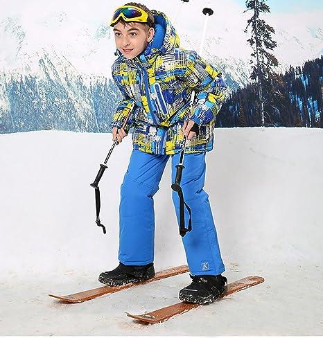 6235a48db832 Wonny Boys Ski Jacket Pants Kids Waterproof Winter Skisuit  Amazon ...
