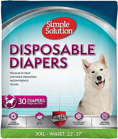 Solución simple pañales desechables Hembra Perro XXL Paquete De 12