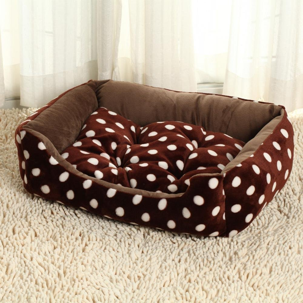 80-65-15cm Gperw Dog bed flannel Dog Bed Kennel Non Slip Cushion Pad (Size   80-65-15cm)