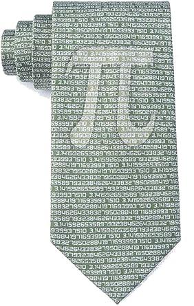 Corbata de microfibra verde para hombre con el símbolo del 50 ...