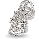EVBEA Statement Full Finger Rings Bling Jewelry Fashion Crystal Knuckle Rings for Women