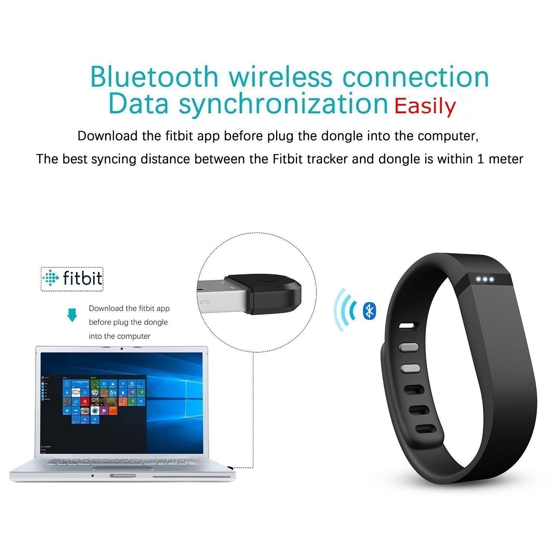 ruentech Reemplazo USB receptor Wireless Sync Dongle para Fitbit/carga 2/carga HR/alta/alta iónico HR/Flex/Flex 2/Surge/Blaze/Uno/fuerza/actividad ...