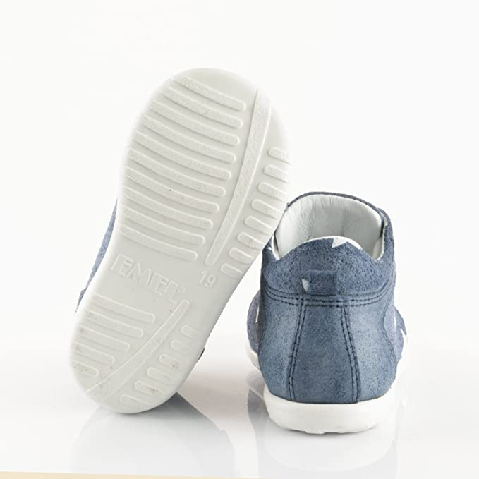 Emel Hechos a mano piel para niños zapatos de primeros pasos hecha a mano en la UE–Azul Star azul azul Talla:18 EU U42I22BR7v